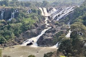 Bharachukki Falls near Talakadu Sri Keerthinarayana Temple