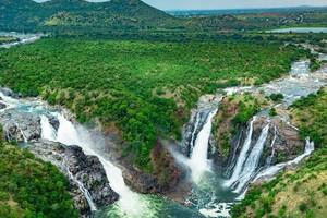 Gaganachukki Falls near Talakadu Sri Keerthinarayana Temple