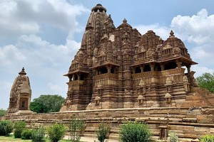 Khajuraho Group of Monuments near Dhuandhar Waterfall