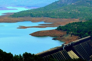 Koyna Dam near Koyna Wildlife Sanctuary