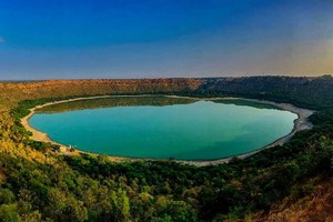 Lonar Lake near Ajanta Caves