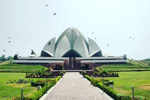 Lotus Temple near Neemrana Fort Palace