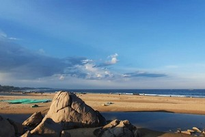 Mahabalipuram Beach near Auroville Beach