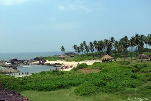 Malpe Beach near Parampalli Wooden Bridge