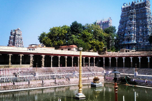 Meenakshi Amman Temple near Ramanathaswamy Temple