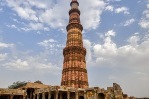Qutub Minar near Lotus Temple
