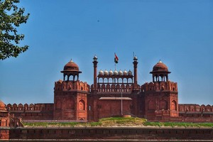 Red Fort near Lotus Temple