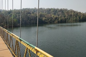 Shivapura Hanging Bridge near Dandeli Wildlife Sanctuary