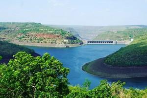 Srisailam Dam near Ethipothala Falls