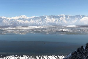 Wular Lake near Hokersar Wetland